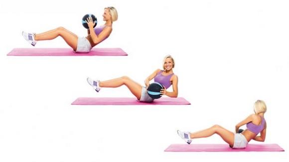 упражнения для верхнего пресса картинка